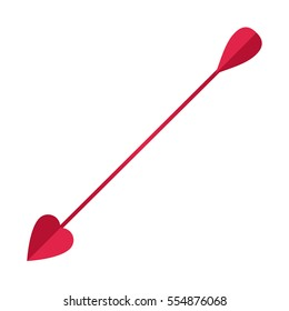 Cupid's arrow.celebration vector illustration isolated on white background.festive attribute of St. Valentine's day, February 14