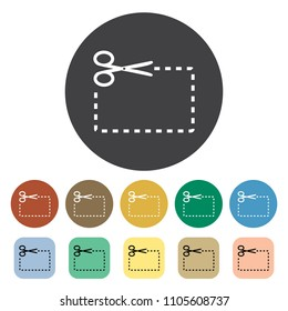 Cupon outline icons collection. Vector illustration.
