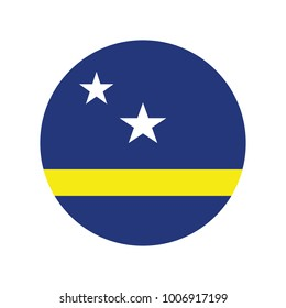 Curacao flag, official colors and proportion correctly. National Curacao flag. Vector illustration.