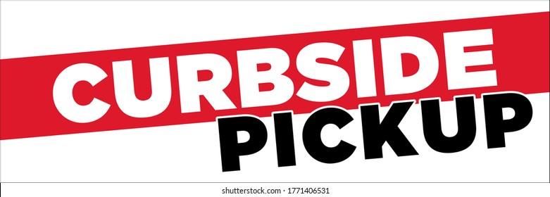Curbside Pickup Banner | Large Format Vector Signage for Restaurants