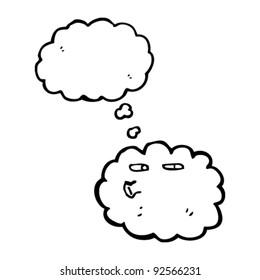 curious cloud cartoon character