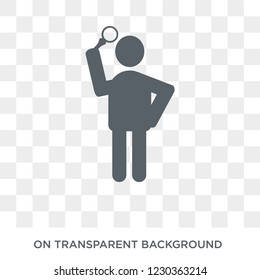 curious human icon. Trendy flat vector curious human icon on transparent background from Feelings collection.