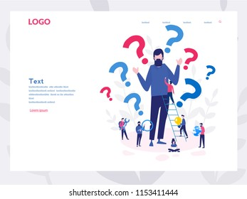 A curious man. Emotional, economic harm and damage, getting no benefit Concept for web page, banner, presentation, social media. Vector illustration, Why. Business demotivation poster