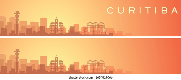 Curitiba Beautiful Skyline Scenery Banner