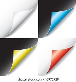 Curled Pages (vector). In the gallery also available XXL jpeg version of this image.