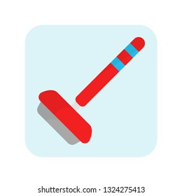 Curling. Stick of curling. Sport equipment. Stick icon. Ice sport. Vector illustration. EPS 10.
