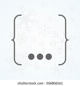 The curly Bracket icon. Quote symbol. Flat Vector illustration