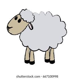 curly lamb christmas manger religion