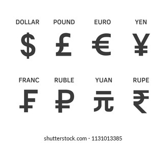 Currencies icon The most popular foreign currency exchange in the world
