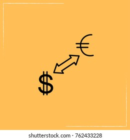 currency converter line icon