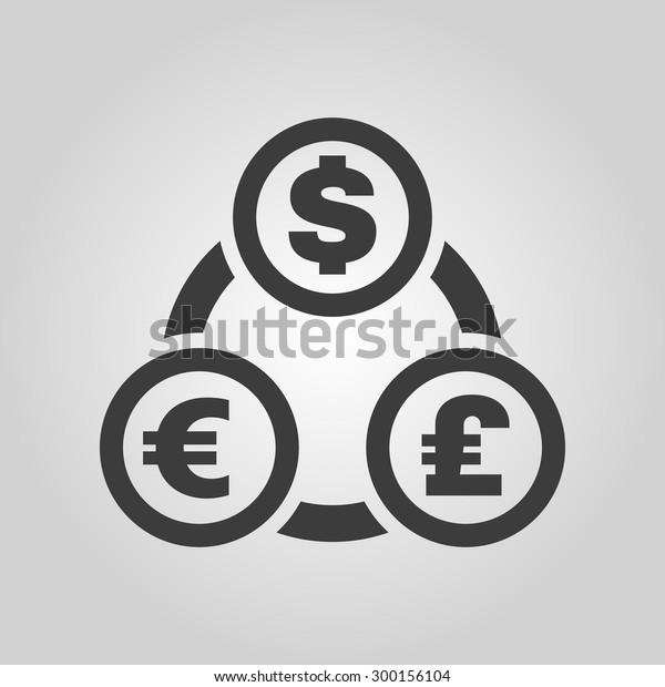 Image Vectorielle De Stock De Dollar Euro Livre Sterling Et