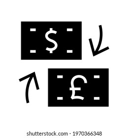 currency exchange icon or logo isolated sign symbol vector illustration - high quality black style vector icons