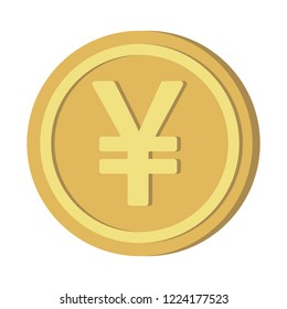Currency icon coin : Japanese Yen JPY vector illustration sign symbols.