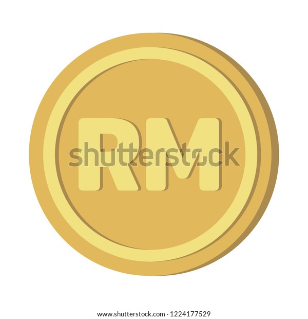 Currency Icon Coin Malaysian Ringgit Myr Stock Vector