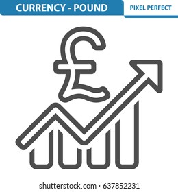 Currency - Pound Icon. Professional, pixel perfect icons optimized for both large and small resolutions. EPS 8 format. 12x size for preview.