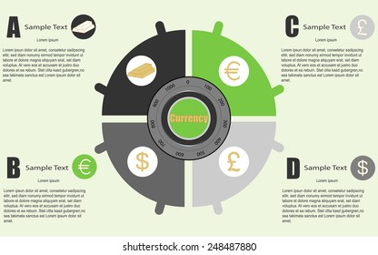 currency saving infographic