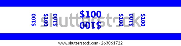 image regarding Free Printable Money Bands referred to as Forex Strap Band Create Very simple Arrange Inventory Vector (Royalty