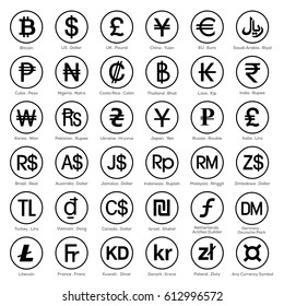 currency symbol icon sets