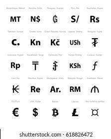 currency symbol set