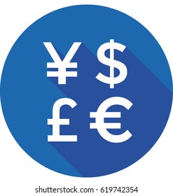 Currency symbols Vector Icon