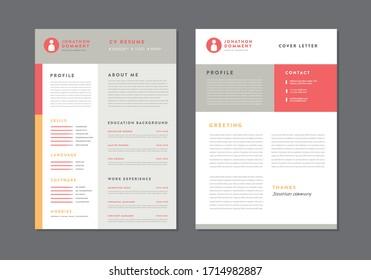 Curriculum vitaeCV Resume Template Design