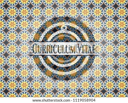 curriculum vitae arabesque badge arabic decoration