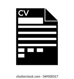 Curriculum Vitae Icon Stock Vector Royalty Free 458971636