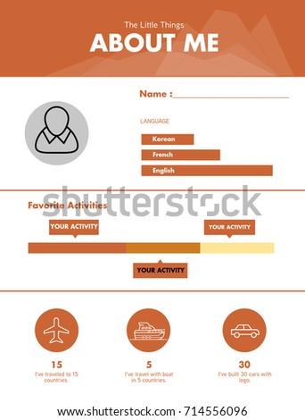 curriculum vitae and infographic about me curriculum vitae