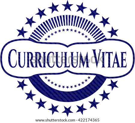Curriculum Vitae Jean Texture Stock Vector Royalty Free 422174365