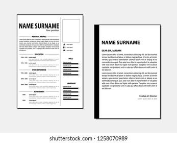 Curriculum vitae vector template
