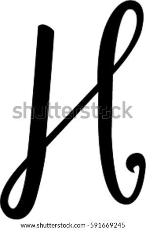 Cursive H Stock Vector Royalty Free 591669245 Shutterstock
