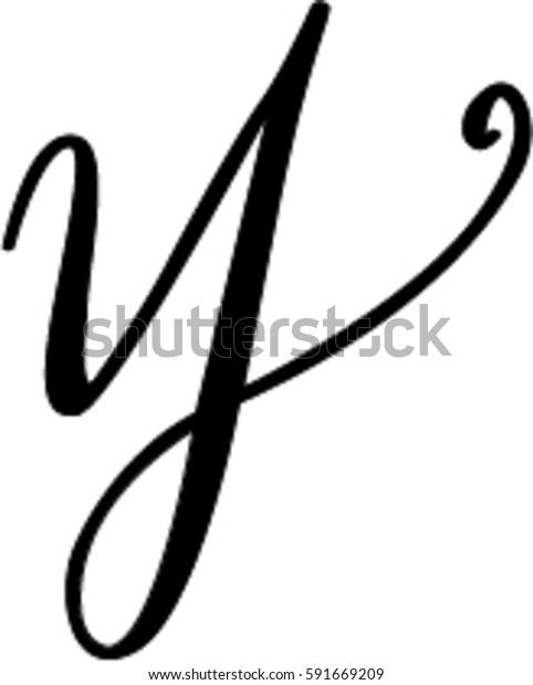 Cursive Y | Miscellaneous, Stock Image