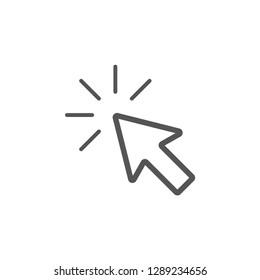 Cursor click icon graphic design template vector isolated