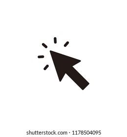 Cursor click icon symbol