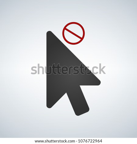 cursor close or not available element icon for apps and web vector illustration isolated on