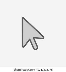 cursor field outline icon. Element of 2 color simple icon. Thin line icon for website design and development, app development. Premium icon
