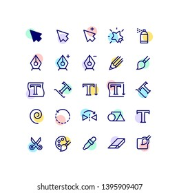 Cursor Graphic Tools Outline Icons