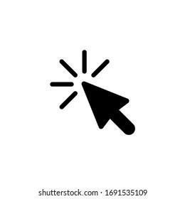 Cursor icon. Click icon vector illustration on white background