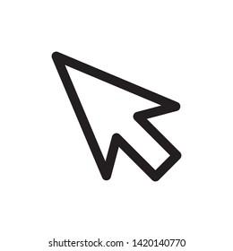 cursor icon symbol sign, vector, eps 10