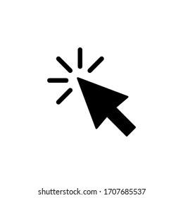 Cursor icon vector illustration. Pointer icon