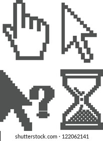 cursor icons set, vector