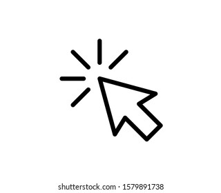 Cursor line icon. Vector symbol in trendy flat style on white background. Click arrow.