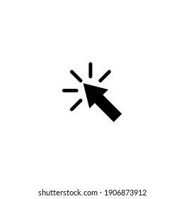 Cursor line icon. Vector symbol in trendy flat style on white background. Click arrow black.