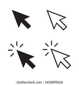 cursor mouse pointer icon vector illustration