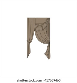 curtains. interior textiles. window decoration.