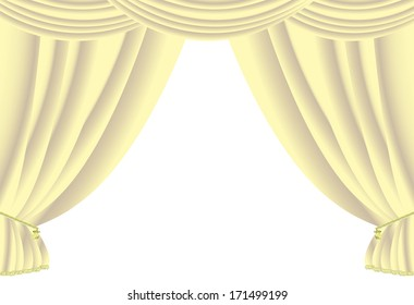 Curtains vector background.