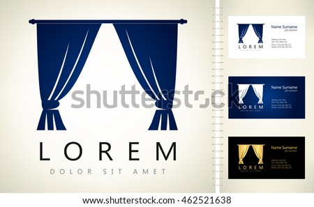 Curtains Vector Design Business Card Template Stock Vector Royalty
