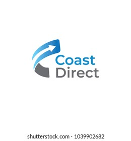 Curve Arrow Coast Direct Logo