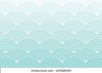 Curve Waves Geometric Pattern background, Vector illustration Riptide Blue Gradient.