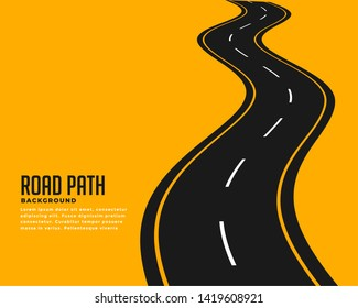 curve winding roadway background design